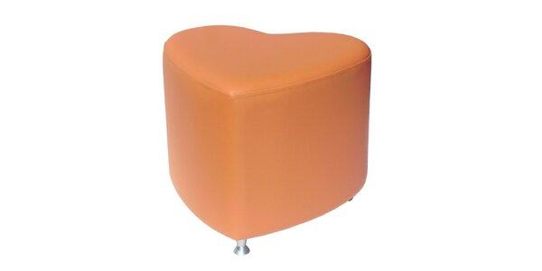 Taburet Styl - oranžový