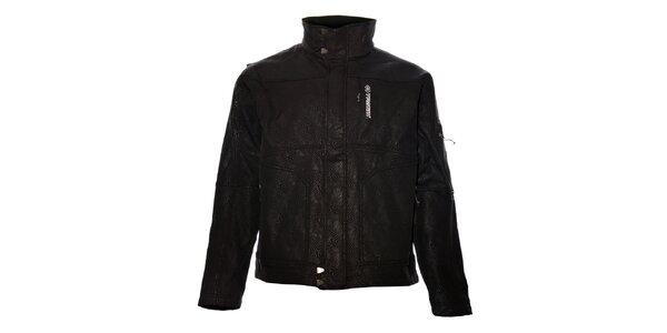 Pánská černá softshellová bunda Trimm s potiskem