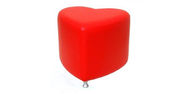 Taburet Styl - červený