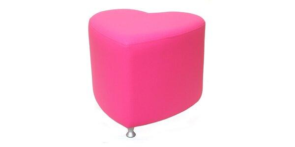 Taburet Styl - růžový