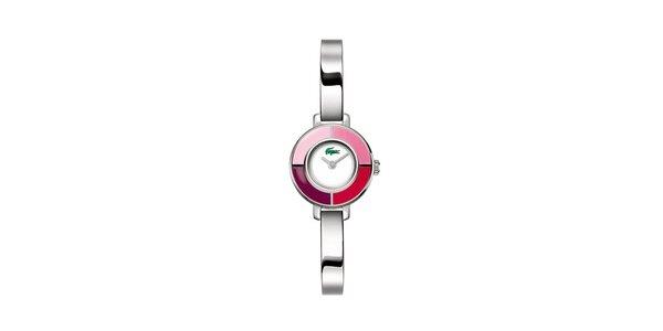 Dámské stříbrné hodinky Lacoste s růžovými detaily