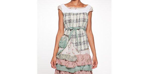 Dámské barevné vrstvené šaty s mašlí Ian Mosh