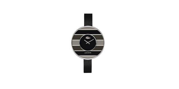 Dámské černo-šedé hodinky Lacoste