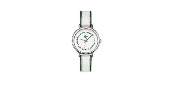 Dámské bílo-zelené hodinky Lacoste