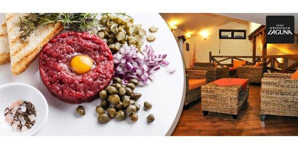 Dvojitá porce tataráku (240 g) + neomezeně topinek