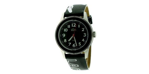 Dámské černé hodinky Lacoste