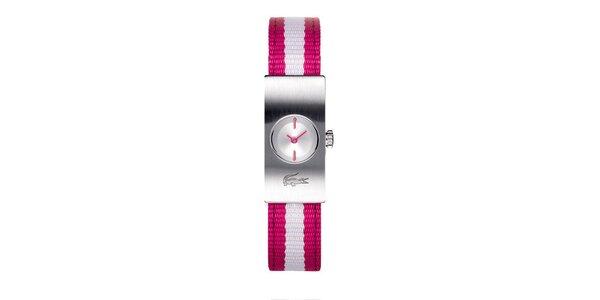 Dámské hodinky Lacoste s růžovo-bílým řemínkem