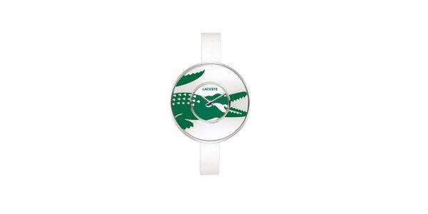 Dámské bílé hodinky Lacoste s velkým zeleným logem