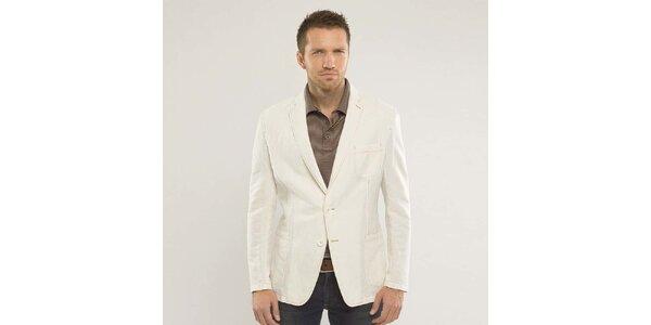 Pánské krémově bílé sako Blažek
