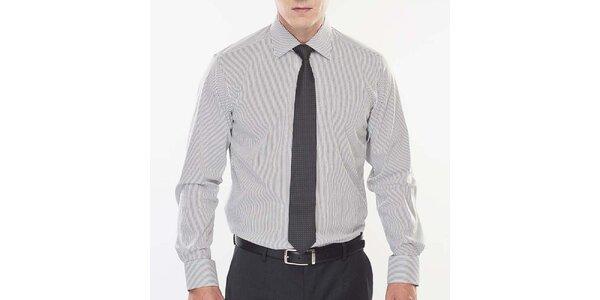 Pánská černo-bíle proužkovaná košile Blažek