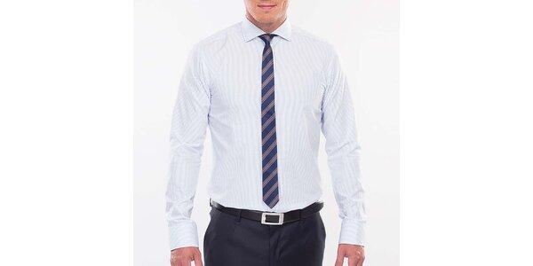 Pánská modře proužkovaná slim fit košile Blažek