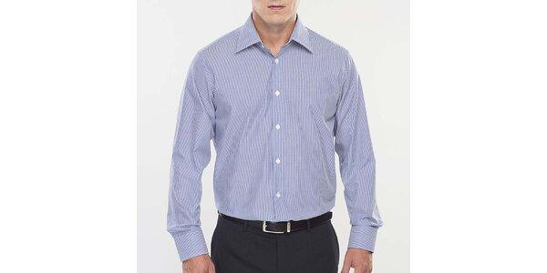 Pánská modro-bílá proužkovaná košile Blažek