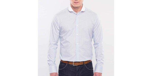 Pánská světle modrá proužkovaná košile Blažek