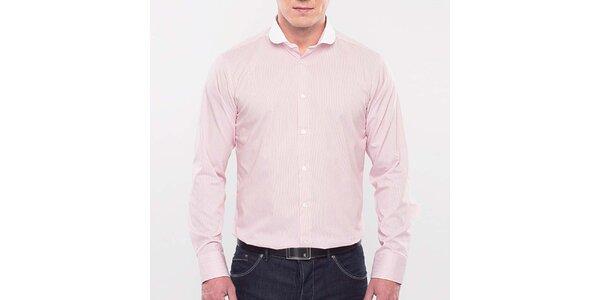 Pánská růžová proužkovaná košile Blažek