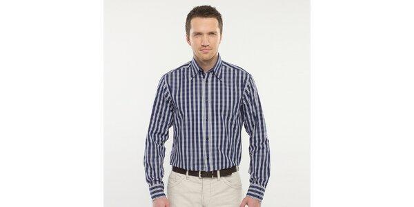 Pánská modře kostkovaná košile Blažek
