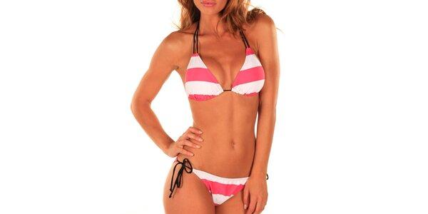 Dámské bílo-růžové plavky Bikiniki