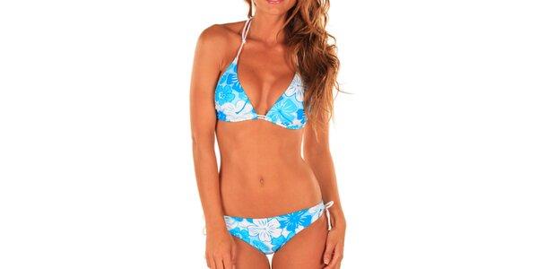 Dámské modro-bílé květované plavky Bikiniki