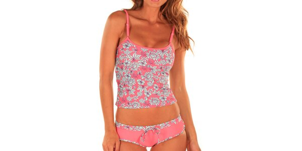 Dámské květované tílko a kalhotky Bikiniki