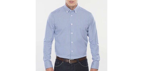 Pánská modro-bíle kostičkovaná košile Blažek