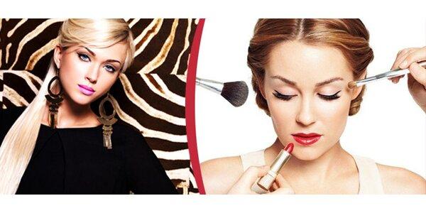 Denní nebo večerní make-up od profesionální vizážistky