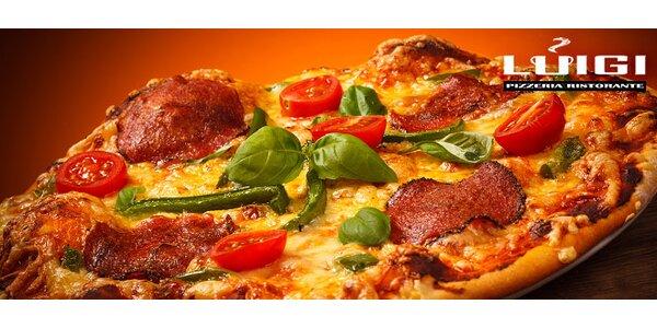 2 velké křupavé pizzy dle vlastního výběru v pizzerii Luigi