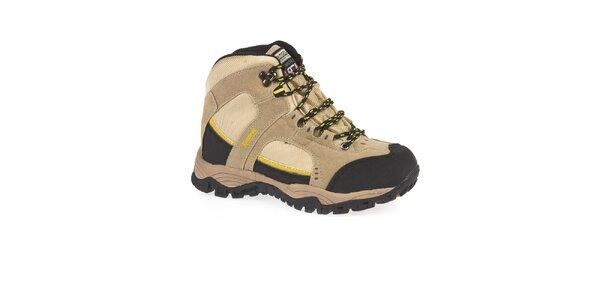 Unisex béžové kotníčkové trekové boty Kimberfeel