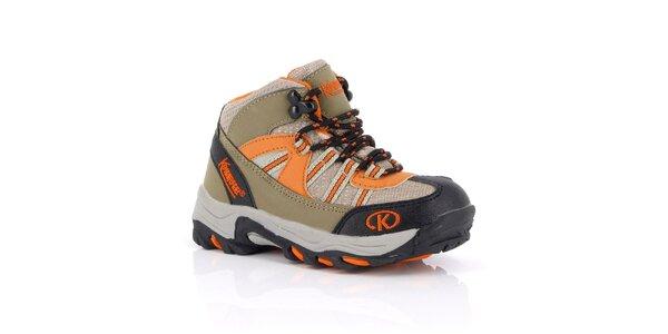 Dámské kotníkové trekové boty s oranžovými prvky Kimberfeel