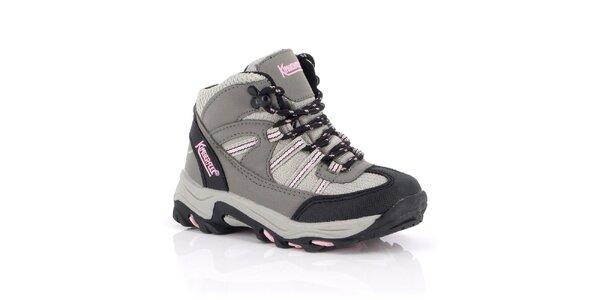 Dámské kotníkové trekové boty s růžovými prvky Kimberfeel