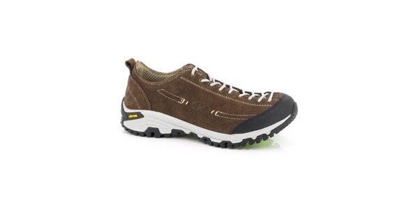 Unisex nízké hnědé outdoorové boty Kimberfeel