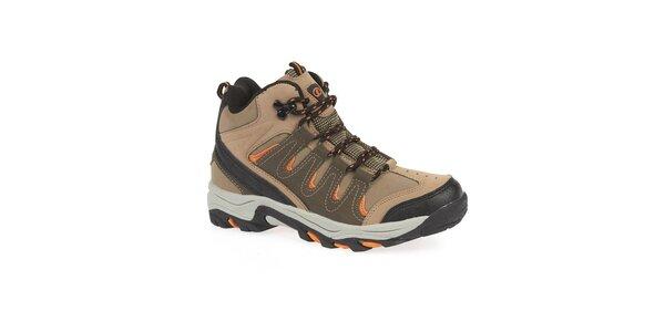 Dámské kotníkové trekové boty s oranžovými detaily Kimberfeel
