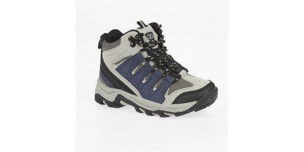 Dámské kotníkové trekové boty s modrými detaily Kimberfeel