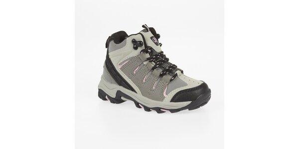 Dámské kotníkové trekové boty s růžovými detaily Kimberfeel