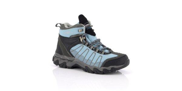 Dámské modro-šedé trekové boty Kimberfeel