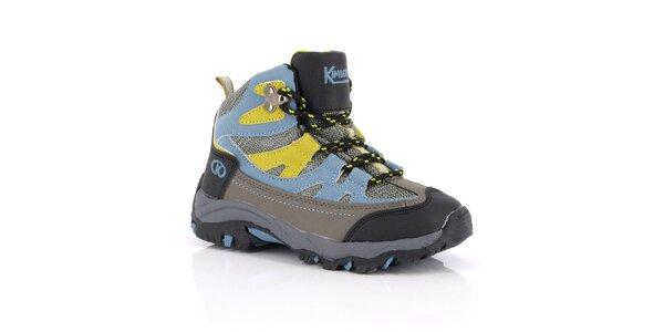 Dámské kotníkové boty s modro-žlutými prvky Kimberfeel