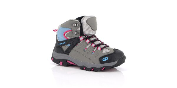 Dámské kotníčkové outdoorové boty s růžovo-modrými detaily Kimberfeel