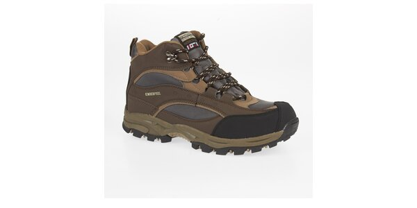 Unisex hnědé trekové kotníčkové boty Kimberfeel