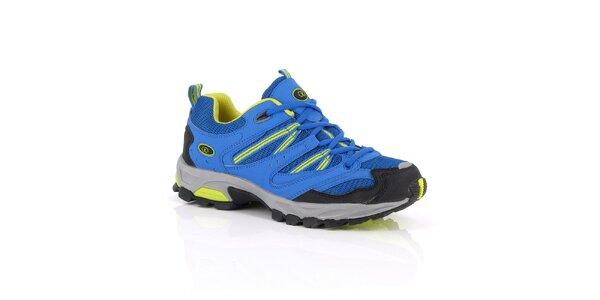 Modro-žluté nízké outdoorové boty Kimberfeel