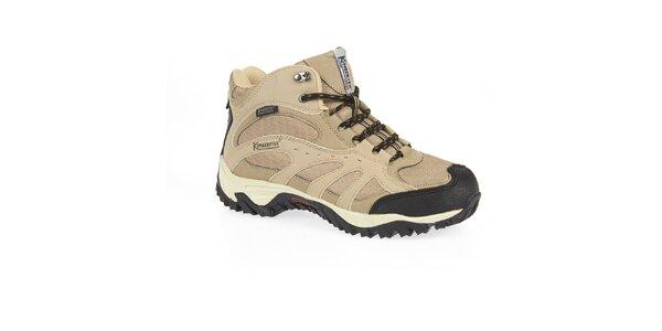 Pánské béžové trekové boty s membránou Kimberfeel