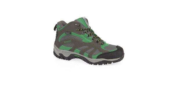 Pánské zelené trekové boty s membránou Kimberfeel