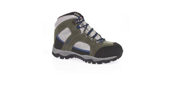 Unisex šedé kotníčkové trekové boty Kimberfeel