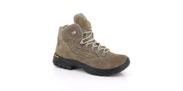 Unisex béžové trekové kotníkové boty Kimberfeel