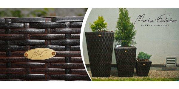 Luxusní zahradní květináče z PE ratanu
