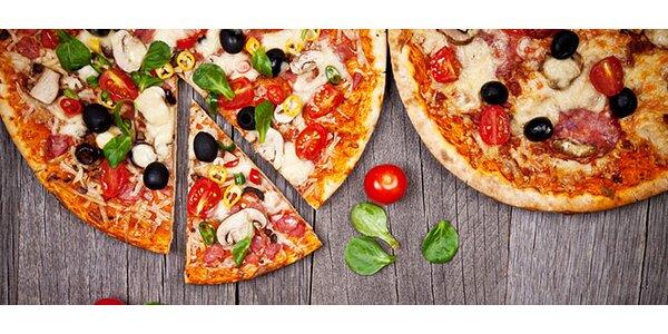 Dvě výtečné pizzy dle výběru - průměr 32 cm