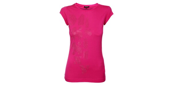 Dámské růžové triko Miss Sixty s kovovými cvoky