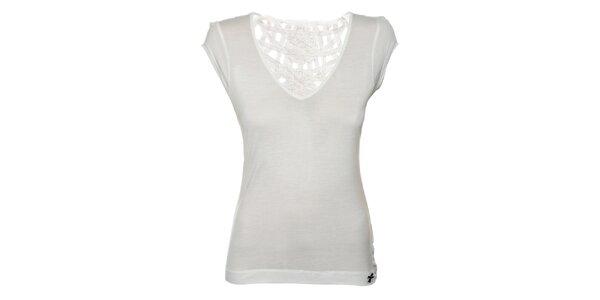 Dámské bílé tričko Miss Sixty s krajkovými zády