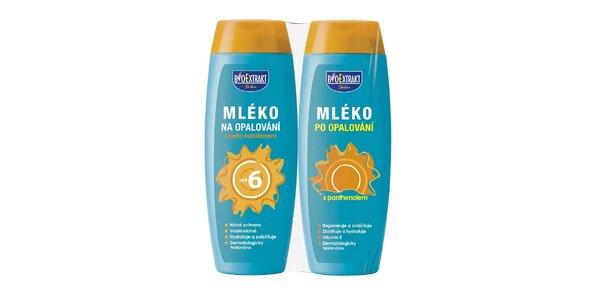 Bio Mléko na opalování SPF6 250ml + mléko po opalování s panthenolem 250ml