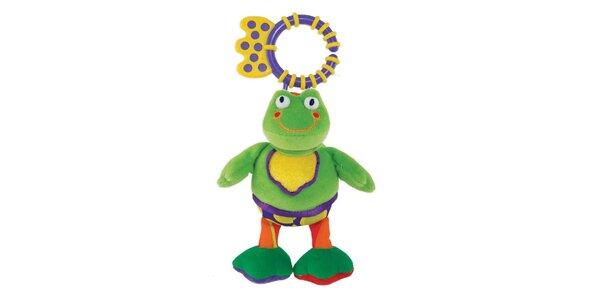 Závěsná pískací žába s kousátkem )16cm)