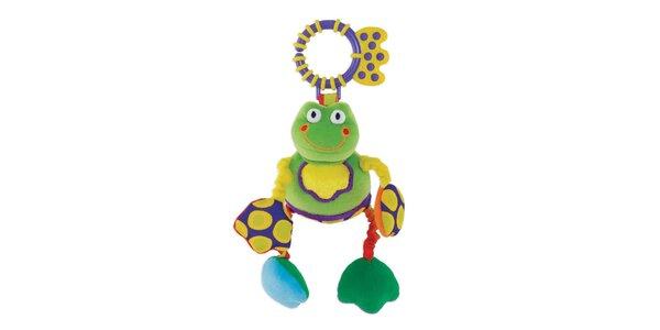 Závěsná chrastící žabka s kousátkem (13cm)