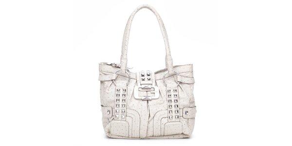 Dámská krémová kabelka Guess s kovovými pyramidkami