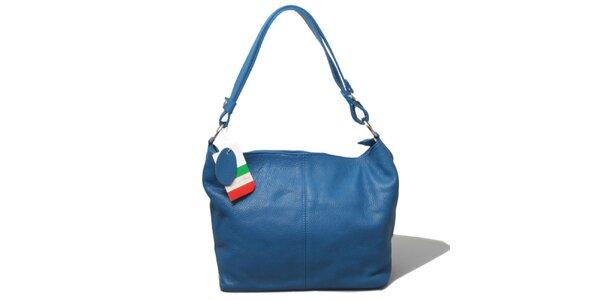 Dámská modrá kabelka s jedním uchem Leonardo Farnesi